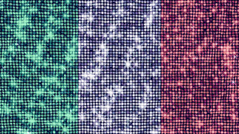 Spangle Flag Italy Stock Video Footage