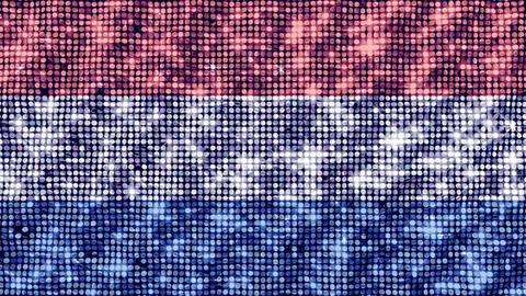 Spangle Flag Netherlands Animation