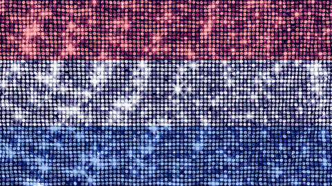 Spangle Flag Netherlands Stock Video Footage