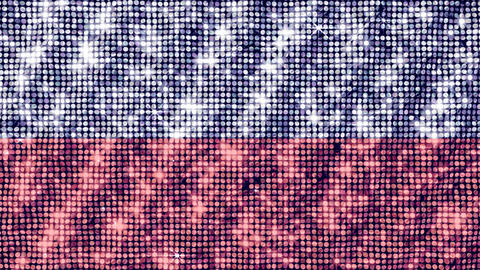 Spangle Flag Poland Stock Video Footage