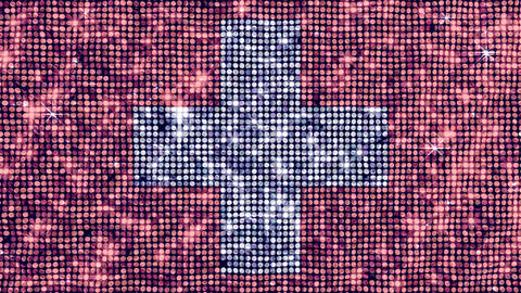 Spangle Flag Switzerland Stock Video Footage