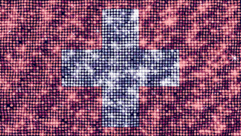 Spangle Flag Switzerland Animation