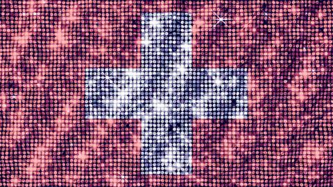 Spangle Flag Switzerland Stock Video Footage