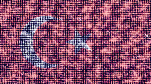 Spangle Flag Turkey Stock Video Footage