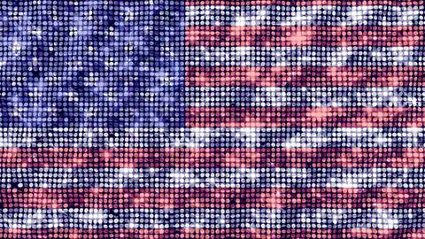 Spangle Flag USA Animation