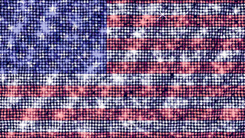 Spangle Flag USA Stock Video Footage