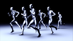 People Running Animation