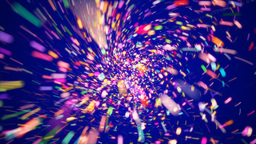 Motion background with colorful particles Stock Video Footage