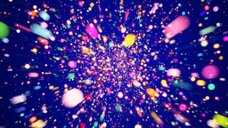 Motion background with colorful particles Animation