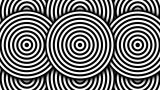 Hypnotic Black And White Circles stock footage