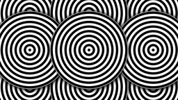 Hypnotic Black and White Circles Animation