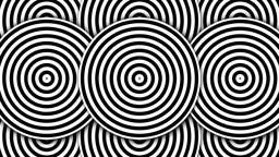 Hypnotic Black and White Circles Stock Video Footage