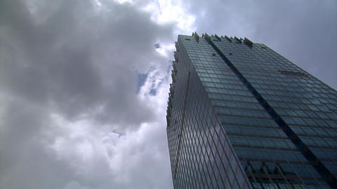 dark clouds over building time lapse Stock Video Footage