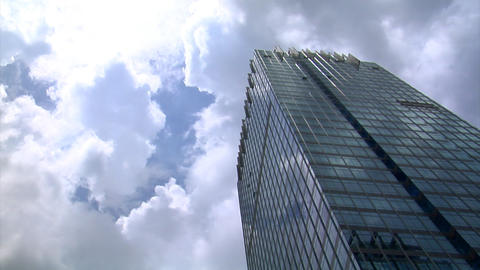 dark clouds over building time lapse Footage