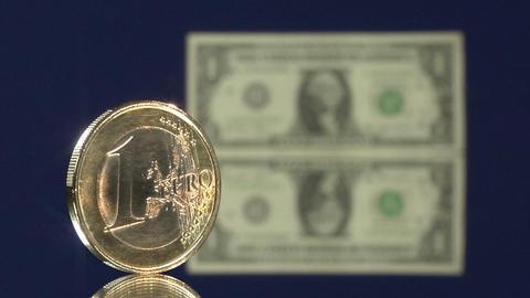 euro dollar blur fall Stock Video Footage