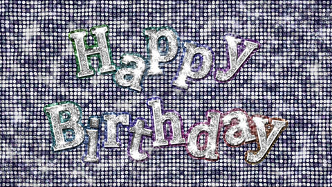 Alphabet Twinkle Happy Birthday 1 Stock Video Footage