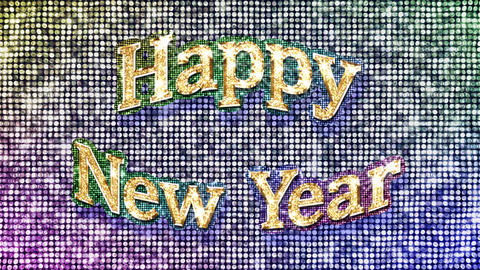 Alphabet Twinkle Happy New Year 1 Stock Video Footage