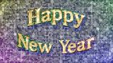 Alphabet Twinkle Happy New Year 1 stock footage