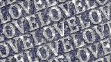 Alphabet Twinkle LOVE 1 stock footage