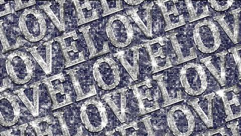Alphabet Twinkle LOVE 1 Stock Video Footage