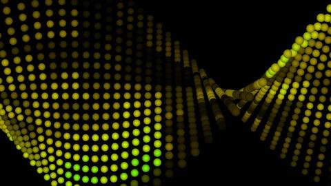 Light Balls yellow tint Stock Video Footage