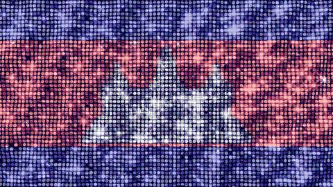 Spangle Flag Cambodia Animation