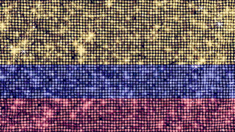 Spangle Flag Colombia Stock Video Footage