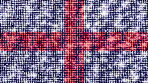Spangle Flag England Animation