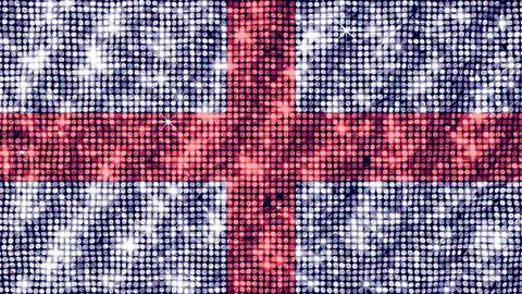 Spangle Flag England Stock Video Footage
