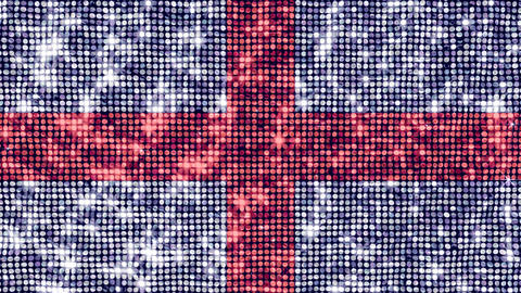 Spangle Flag England Stock Video Footage