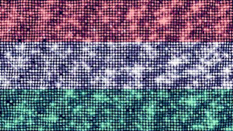 Spangle Flag Hungary Animation