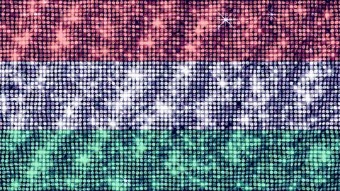 Spangle Flag Hungary Stock Video Footage