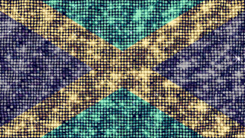 Spangle Flag Kazakhstan Stock Video Footage