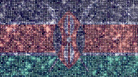Spangle Flag Kenya Stock Video Footage