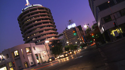 Hollywood Capitol Records 05 (Time Lapse) Stock Video Footage