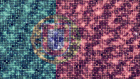 Spangle Flag Portugal Animation