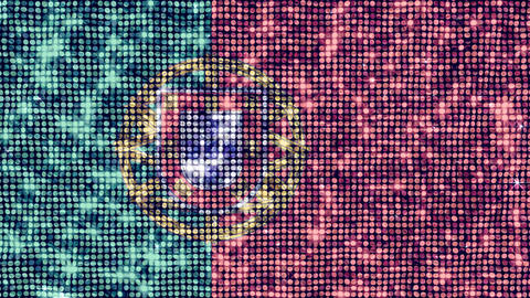 Spangle Flag Portugal Stock Video Footage