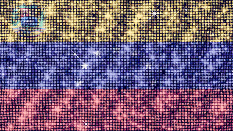 Spangle Flag Venezuela Stock Video Footage