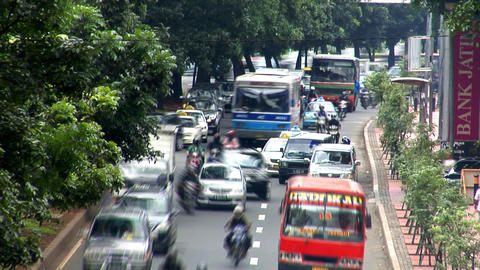 heavy asia city traffic close Stock Video Footage
