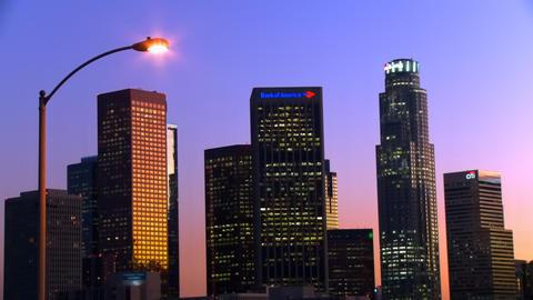 Corporate Skyline Time-lapse Stock Video Footage