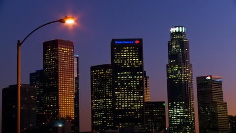Corporate Skyline Time-lapse Stock Video Footage