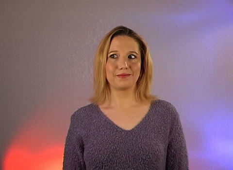 Beautiful Blonde - Sssshhh (2) Stock Video Footage