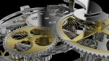 Clockwork Mechanism Close Up stock footage