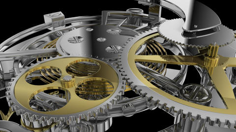 Clockwork mechanism close up Stock Video Footage
