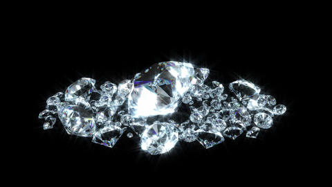 Diamond mass rotation loop Animation