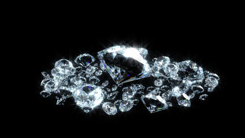 Diamond mass rotation loop Stock Video Footage