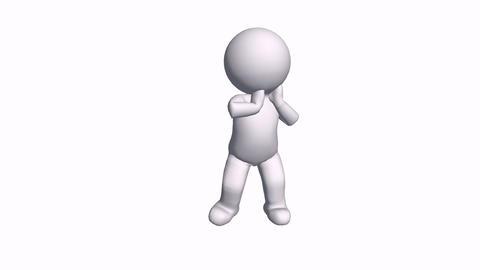 3D cartoon Singer character rap dance,comics people black R&B hip-hop rock&a Animation