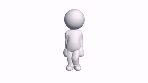 3D Cartoon Character Say Come On Hello,comics People Chat Talking stock footage