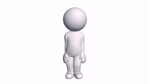 3D cartoon character say Hey hello,comics people chat talking Animation