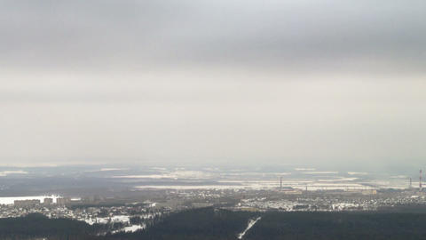 View of the winter landscape. Time Lapse Footage